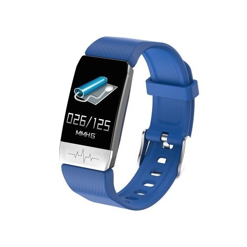 Pulseira inteligente Termômetro Medição de Temperatura Corporal Monitor de Sono Saúde Pressão Arterial Freqüência Cardíaca Relógio Inteligente Banda Relógio de Fitness Rastreador À Prova D 'Água