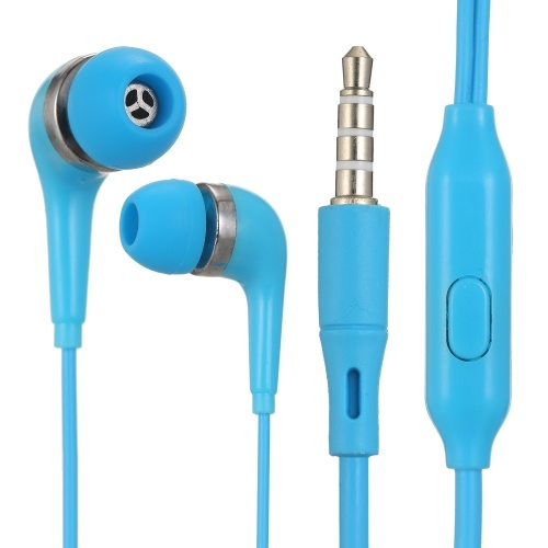 In-Ear 3.5MM Wired Earphones Music Headphone with MIC Wire Control Earbuds for Mobile Phone Computer Laptop Tablet