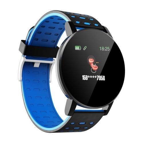 119plus 1.3in Intelligente Uhren Herzfrequenz-Überwachungsuhr Sportuhren Armband Wasserdichte Smartwatch