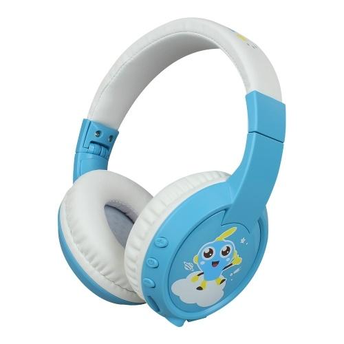 Bluetooth-Kopfhörer für Kinder Drahtloser Kopfhörer Integriertes Mikrofon-Over-Ear-Headset mit 85 dB Volumenbegrenzter Hörunterstützung TF-Karte für Kinder zum Lernen / Unterhalten