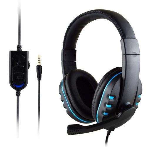 KUBITE T-997 Cuffie da gioco stereo con microfono per PS4 PC Laptop Noise Cancelling Cuffie auricolari Bass Surround Cuffie morbide per giochi