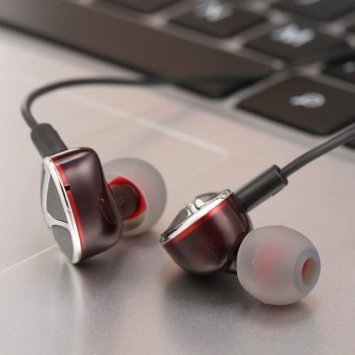 Q7 3.5 mm en la oreja Deporte Auriculares con control de línea de micrófono IPX4 Auriculares impermeables Auriculares dinámicos Auriculares con bajo pesado para teléfonos portátiles Tabletas
