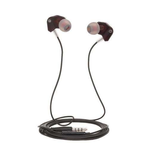 Q9 3,5-мм наушники-вкладыши спортивные с микрофонным управлением наушниками Динамическая гарнитура с усиленным басовым звуком для телефонов и ноутбуков