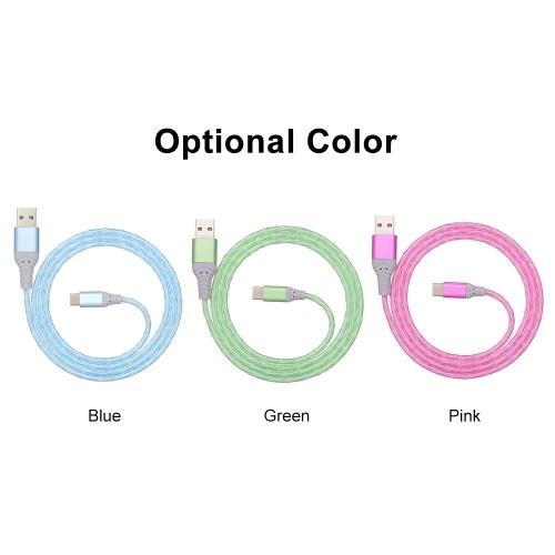 USB-кабель для мобильного телефона Huawei P20 P30 Xiaomi Type C Кабель для быстрой зарядки Streamer Data Line Волшебный свет Кабель для зарядки фото