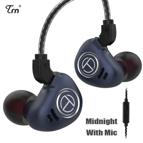 TRN V90 3,5 mm écouteurs intra-auriculaires 1DD + 4BA hybride métal HiFi casque de sport écouteurs de musique avec microphone 2 broches câble détachable