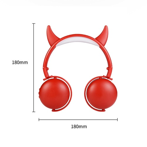 Cute Cartoon Wireless Bluetooth Headset for Girl Kids Headphone with Mic PC Mobile Phone Music Gaming MP3 Cat Ears/Antlers/Devil Ears Earphone