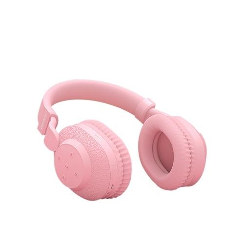 Wireless BT5.0 Headphone Kids Headphones Over Ear Headset Noise Canceling Earphone with Mic TF Card Slot