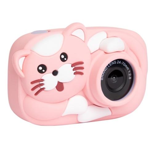Caméra pour enfants 1080P Mini caméra numérique pour enfants de dessin animé, écran IPS de 2,4 pouces, prise de photo, enregistrement vidéo, 2600W Pixel, jouets pour enfants, caméra avec étui de protection en silicone