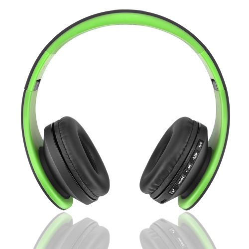 Andoer LH-811 Digital kabelgebundene Kopfhörer Wireless Stereo-Bluetooth 3.0 + EDR grün