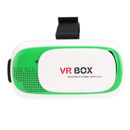 VR BOX 2.0 lunettes de réalité virtuelle 3D casque Box VR 3D film jeu verres Head-Mounted pour 4,7 à 6,0 pouces iOS Android Smart Phones vert