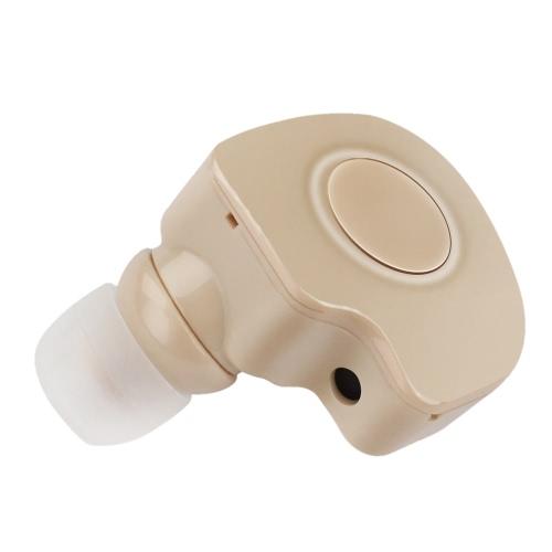 S560 Wireless BT stéréo casque BT 4.1 In-ear baignez voix prompte Ecouteur mains-libres avec micro Brown pour Android / iOS / Windows Phone Tablet PC portable autres périphériques BT-enable