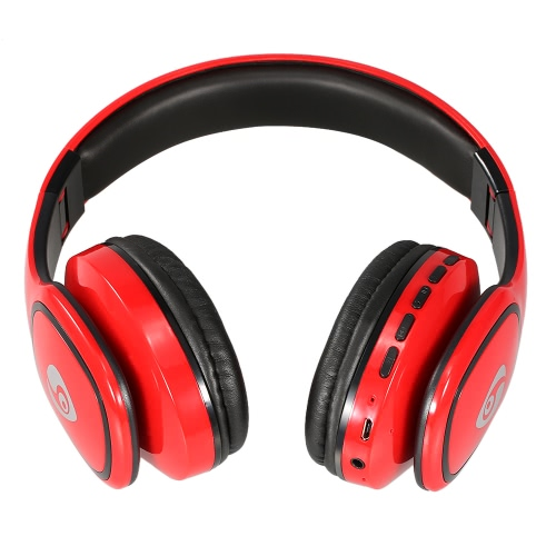 S98 Wireless Bluetooth Headphone Foldable Over-ear Headsets 3.5mm Wired Earphone Support TF Card Music Play FM Radio Hands-free Calling Red for iPhone 7 6S Plus Samsung S6 Note 6 MP3 MP4 Laptop Notebook