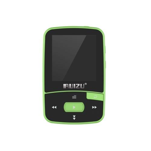 RUIZU X50 8GB 1.5インチMP3 MP4プレーヤーHiFiロスレス音質Bluetooth歩数計TFカードFMラジオ録音Eブックタイムカレンダー