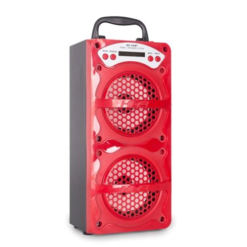 MS-146BT Hi-Fi Haut-Parleur Sans Fil BT Haut-Parleur Mobile Multimédia Musique Lecteur 3.5mm Audio FM Radio Subwoofer avec LED Affichage Port USB TF Fente Pour Carte