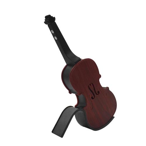 V8 mini BT haut-parleur portable violon forme w / microphone
