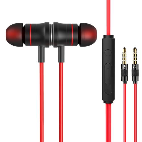 JIES V5 3.5mm Gaming In Ear Fone de ouvido com microfone