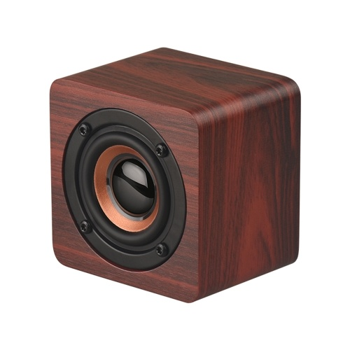 Q1 Mini Wooden Bluetooth Speaker Portable Wireless Subwoofer Strong Bass Powerful Sound Box Music Magic Cube for Smartphone Tablet Laptop