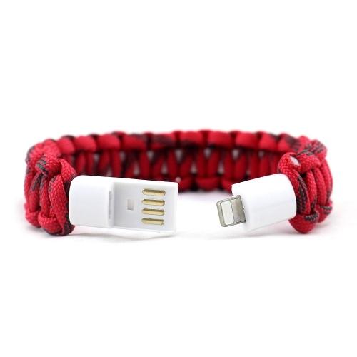 USBライトニング充電ケーブルブレスレットに2本