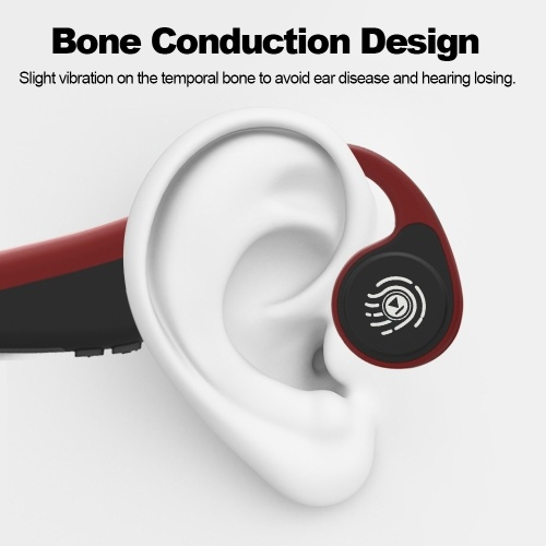 V9 Wireless Bluetooth Headphones Bone Conduction Headsets Bluetooth V5.0 Outdoor Sports Earphones Touch Control