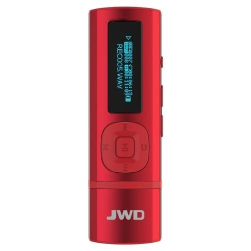 JWD JWM-102 8GBのMP3プレーヤーミニボイスレコーダーデジタルミュージックプレーヤーバッククリップUディスク機能TFカードスロットFMラジオ表示画面付きヘッドフォン