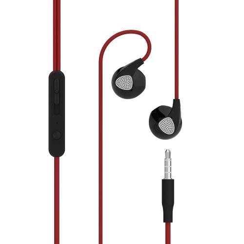 Uiisii U1 en la oreja los auriculares con cable Super Bass Auriculares de música con micrófono Control en línea 3.5 mm para iphone Xiaomi PC MP3