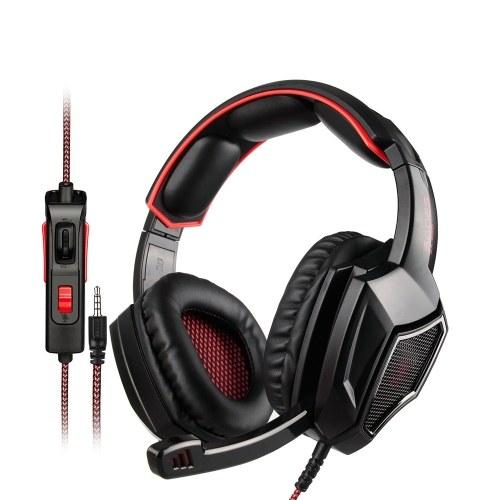 SADES 3.5mm con cable auriculares para juegos sobre la oreja Auriculares de juego con micrófono Control de volumen para PC Portátil Teléfono inteligente