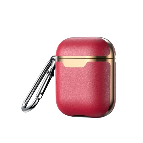Leather Case For Airpods Wireless Earphone Cover Cases for Air Pods Headphone Box Protective Case with Climbing Hook