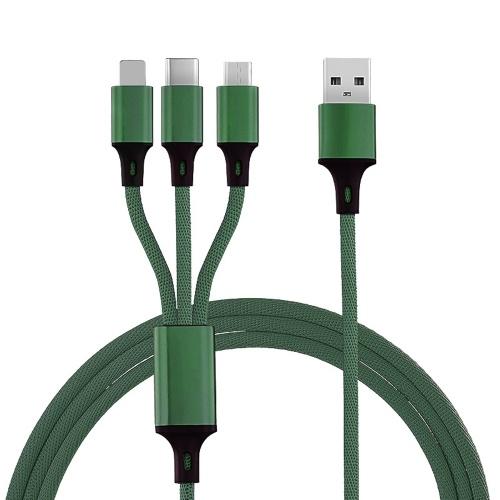 USB-кабель 3 в 1 для мобильного телефона Кабель быстрого питания Шнур питания Провод питания