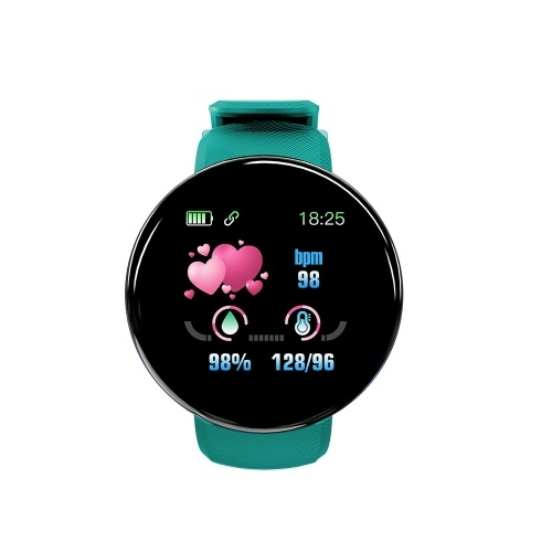 Braccialetto sportivo D18 Smart Watch da 1,3 pollici con schermo TFT IP65 impermeabile