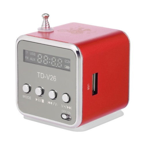 3.5mm Wired Mini Speaker Portable MP3 Player FM Radio Music Amplifier