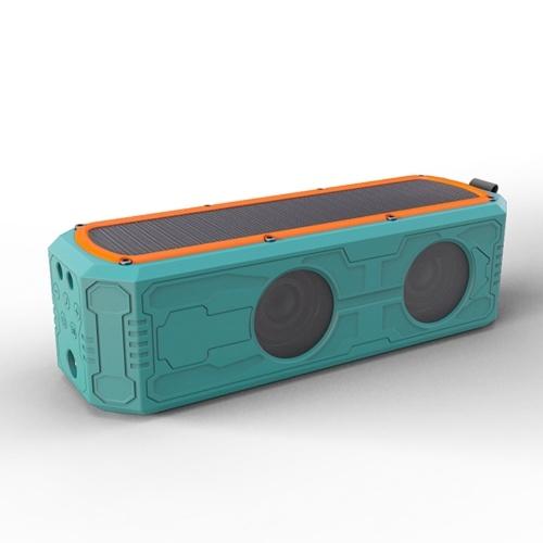 ES-T62 Solar Bluetooth Speakers Outdoor Speaker Waterproof Shockproof AUX IN Solar Charging SOS Flashlight Hands-free with Mic