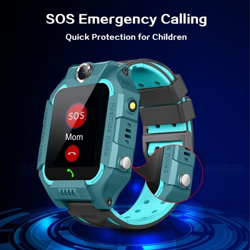 "SZ6A Multifunctional Kids Children Smart Watch Tracker Intelligent Band Sensitive 1.44"" Touch Screen Compatible for Android/ IOS Phone System Chat Call Camera Alarm Clock LBS Positioning IP67 Water Resistance for Present Gift"