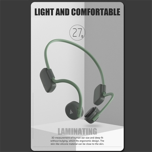 BH528 Bone Conduction Headphones Wireless Bluetooth 5.0 Earphone Outdoor Sports Headset IP56 Waterproof Hands-free with Microphone QCC3003