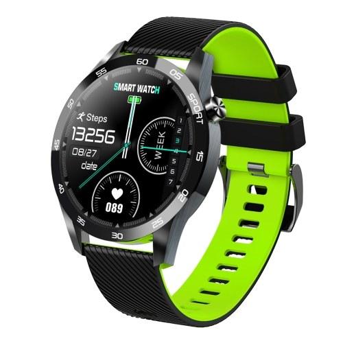 F22L BT4.0 Интеллектуальные часы Измерение температуры Мониторинг сердечного ритма Напоминание о тренировке дыхания Спортивные часы (черный и зеленый)