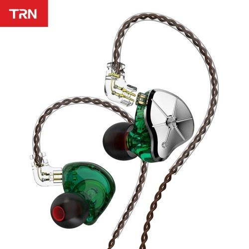 TRN STM Wired In-ear Headphones 1BA+1DD Hybrid Dynamic HIFI DJ Monitor Running Sport Earphone Earplug Replaceable Filter Headset