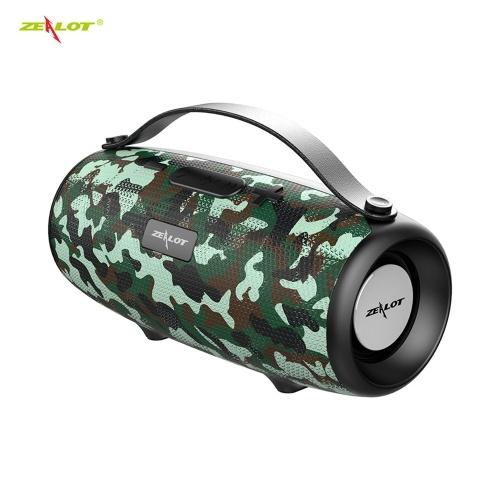 ZEALOT S34 Wireless Bluetooth Speaker Waterproof Loudspeaker Portable Outdoor HiFi TWS Stereo Sound Subwoofer Support TF/U Disk/AUX IN