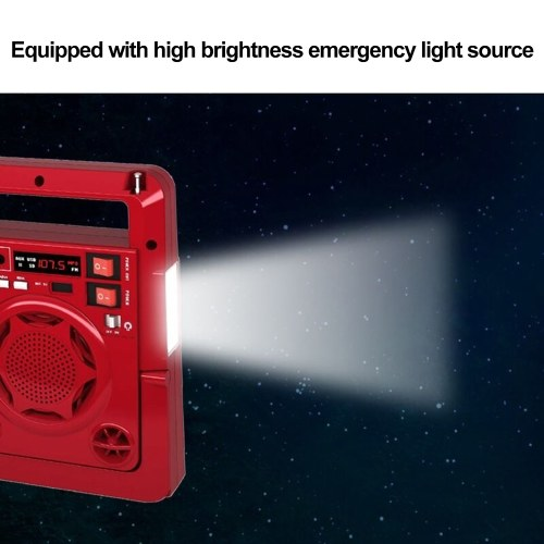 HN-1320ULS Outdoor Solar AM/FM Radio Music Player Speaker with LED Lamp TF USB For Phone Emergency P