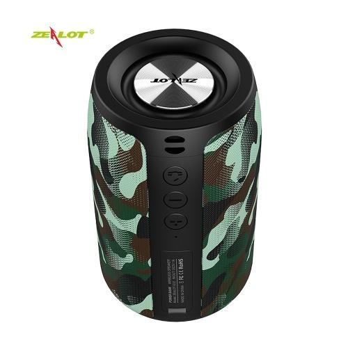 ZEALOT S32 Tragbarer drahtloser Bluetooth-Lautsprecher 5-W-Subwoofer Soundbox für den Außenbereich Musik-Player U-Platten-TF-Kartenleser AUX-IN 2000-mAh-Akku