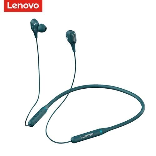 Fones de ouvido sem fio Lenovo XE66 Bluetooth 5.0 Faixa de pescoço Fone de ouvido para esportes ao ar livre Bobina móvel dupla pescoço pendurado Música fone de ouvido sucção magnética IPX5 à prova d'água mãos-livres com microfone