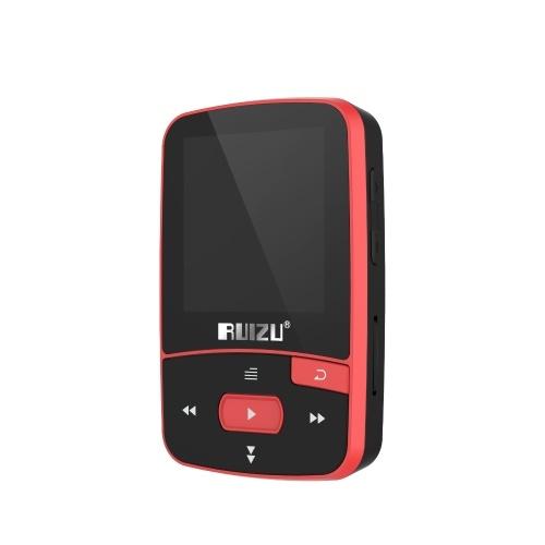 RUIZU X50 8 ГБ 1,5 дюйма MP3 MP4 плеер Hi-Fi качество звука без потерь BT шагомер TF карта FM радио запись электронная книга календарь времени