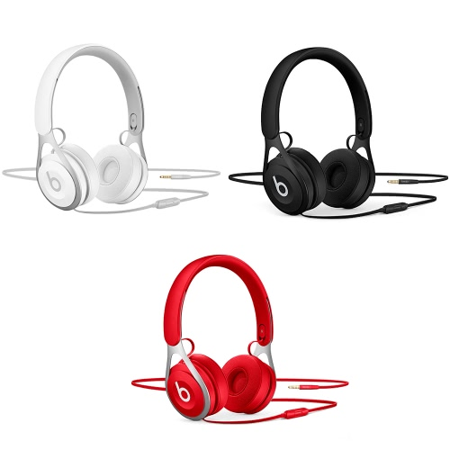 Beats EP 3.5mm Wired Headphones On Ear Headset Stereo Music Earphone Enhanced Bass Line Control with Microphone Noise Isolation Red фото