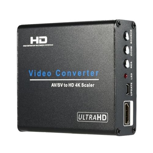 Композитный RCA AV / S-Video конвертер HD UHD 4K видео & аудио Upscaler преобразование адаптер для DVD STB Видеомагнитофон игры консоли к проектору монитор HDTV