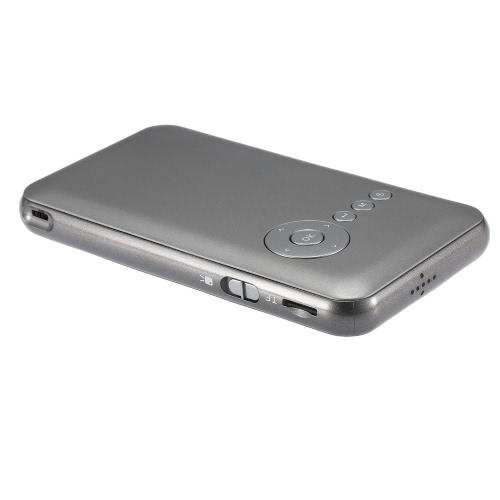 M6 2 em 1 Android 4.4.2 Projetor DLP LED + Smart TV Box 1G / 16GB
