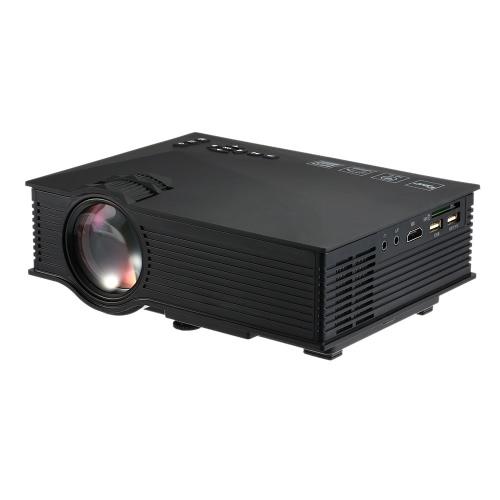Проекционный светодиодный проектор UC46 1200 Люмен 800 * 480 800: 1 Контрастность Черная штепсельная вилка США