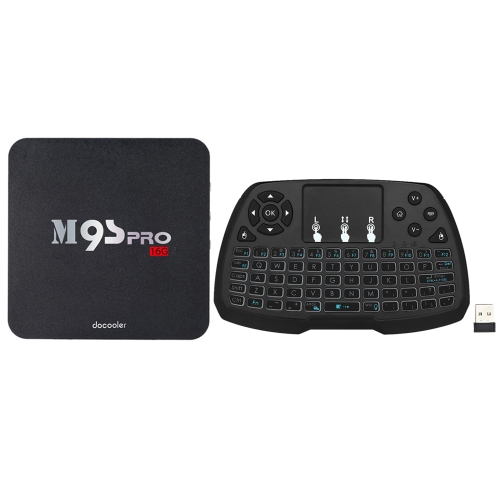 Docooler M9S-PRO Android 7.1 TV Box 2G + 16G с QWERTY-клавиатурой