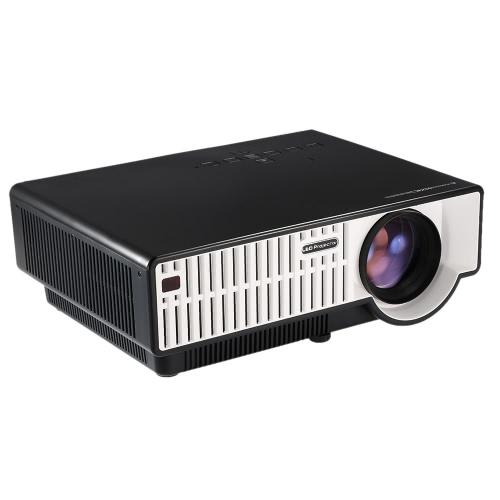 PRW310 LED Projector 2800 Lumens Full HD 1080P Physical Resolution 1280 * 800 Dual HD / VGA / USB / AV / TV Input for Home Theater Personal Entertainment  EU Plug