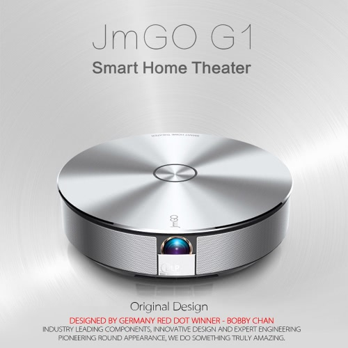 JmGO G1 Mstar 6A918 DLP Projector + Android Smart TV Box 1500LM Multimedia Player & Smart Home Theater 2.4G WiFi Bluetooth 4.0 w/Remote Control US Plug