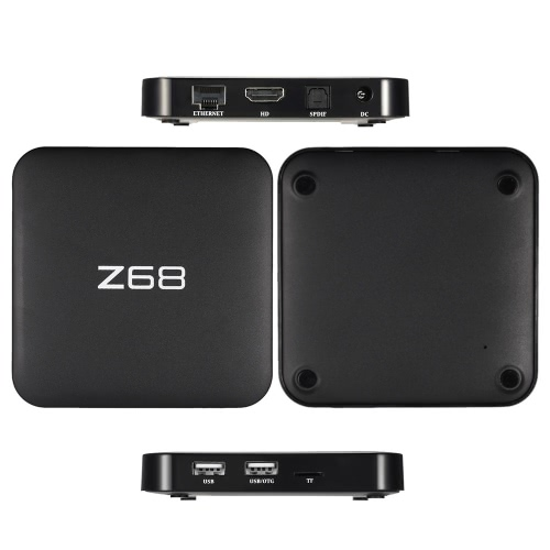 Z68 Smart Android TV Box Android 5.1 RK3368 Octa-core 64-bit XBMC UHD 4K 3D 2G/16G Mini PC 2.4G & 5.0G WiFi 1000M LAN H.265 DLNA Airplay Miracast Bluetooth 4.0 HD Media Player