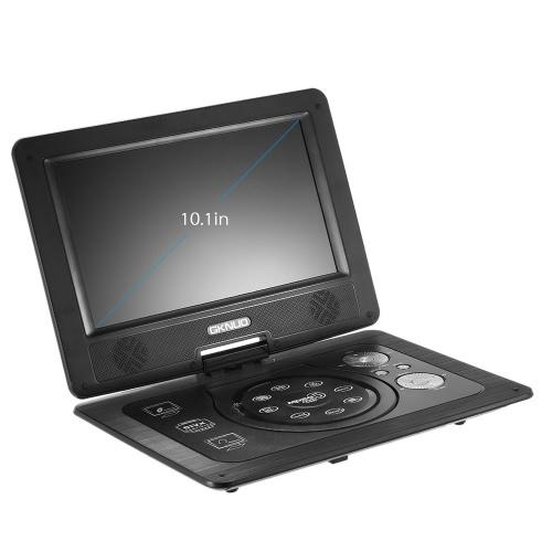 10 ГКН-101. 1 дюйма плеер DVD Portatil 16:9 TFT экран Pixe 1024 * 600 поддержка SD / USB / AV для геймпада TV DVD / CD / MP3 США штекер