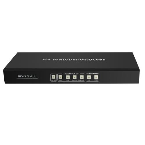 HDV-SA02 SDI для всех скалер Конвертер SD-SDI HD-SDI 3G-SDI в преобразователь сигналов DVI-HD VGA вход CVBS